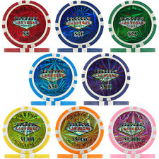 Las Vegas Casino Numbered Laser Poker Chips, 11.5g ABS Composite