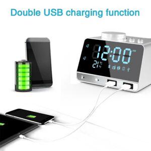 Universal LED Alarm Clock Bass Speaker With Temperature Display FM Radio Desktop