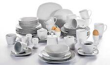 50pc Complete Dinner Set Porcelain Ceramic Plates Kitchen Dinning Service Sets