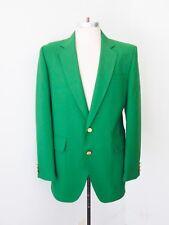 VGC Vtg 70s SUPERFLY Emerald Green Polyester Disco Pimp Golf Blazer Jacket 42L