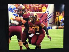 Minnesota Golden Gophers David Cobb Signed Autographed Football 8X10 Photo Coa