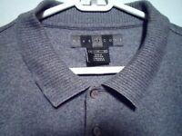 Nike Golf sz. XL Grey Mens Polo Golf Rugby Shirt Pullover Short Sleeve Cotton