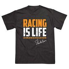 Voiture Racing is life T Shirt Steve McQueen Le Mans Porsche TAG HEUER Style