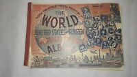 1944 World Stamp Album Book, 30 Stamps: France, Japan, Russia, Great Britain