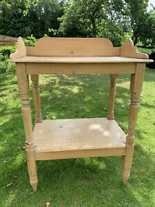 Vintage Pine Wood Wash Stand Dressing Table