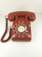 Vntg Bell Systems Western Electric Deep RED Rotary Dial Desk Phone 500C/D BATMAN