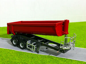 halfpipe trailer 2 axle in red,WSI truck models 04-1154
