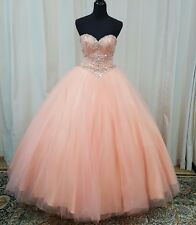 NEW Beloving by Mary's XV Swee 16 Prom Quinceanera Dress 4682 Peach Size 8