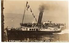 SS Stirling Castle Paddle Steamer Swanage Pier unused RP old pc See ABC Guide