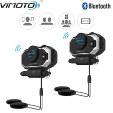 2pcs Vimoto V8 Helmet Bluetooth Headset Motorcycle Headphones For Two Way Radios