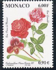 TIMBRE DE MONACO N° 2195 ** FLORE /  FLEUR / ROSES ET ORCHIDEES