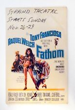 "Fathom: ""Original"" 1967 U.S. Movie Poster Window Card Insert  NICE"