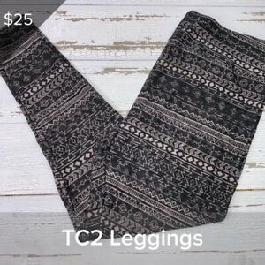 NEW RELEASE Lularoe TC2 Leggings Gorgeous Black Aztec