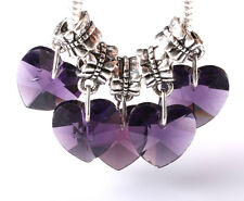 Exquisite 5pcs Silver big hole Beads Fit European Charm Pendant Bracelet AS247