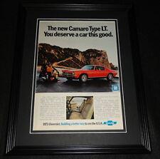 1973 Chevrolet Camaro Framed 11x14 ORIGINAL Advertisement
