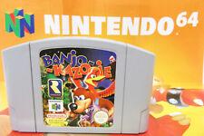 Banjo Kazooie Nintendo 64 Game Cartridge + Advertizing Poster