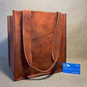 Leather Shopping Bag Market SHOP Goat Leather Billy Goat Designs