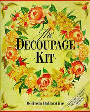 Decoupage Kit The by Belinda Ballantine Includes 6 Decoupage Design Sheets New