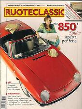 05 2008 RUOTECLASSICHE FIAT 850 SPIDER FORD MUTT FERRARI PININ MORGAN DROP 1962