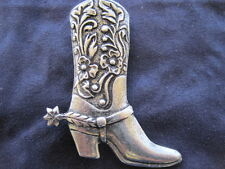 Cowboy Boots Silver Pin - Country Western Brooch - Jewelry - NEW