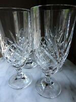 GODINGER SHANNON DEEP CUT IRISH CRYSTAL DUBLIN SET 4 ICED TEA BEVERAGE GLASSES