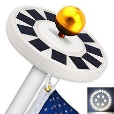30 Led Figurine Lights Solar Power Flag Pole Lights, Upgraded Version Flagpole