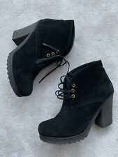 Prada Sport Black Suede Leather Ankle Boots Shoes UK5.5 Caldera £320 Selfridges