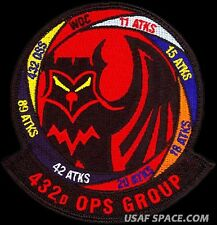 USAF 432nd OPERATIONS GROUP – GAGGLE – NEW – ATTACK SQD'S -ORIGINAL PATCH