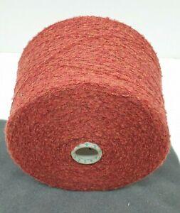 Wolle Garn Stricken weben Bouclé orange  schurwolle-mixlhandstrickgarn 1,3kg b47