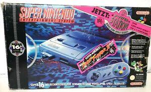 Original Boxed Super Nintendo Entertainment System SNES Power Station Console