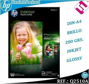 200 HOJAS PAPEL FOTOGRAFICO EVERYDAY 210X297 HP GLOSSY 200 GRAMOS A4 (PENINSULA)