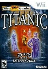 TITANIC Secrets of the Fateful Voyage WII NEW! LOOK FOR HIDDEN OBJECTS, PUZZLE
