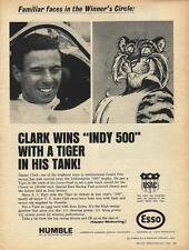 1965 Jimmy Clark Indy 500 Esso Ad/Lotus-Ford