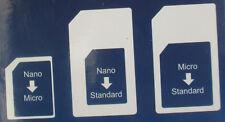 Sim-Karten-Adapter Nano->Micro Nano->Standard Micro->Standard