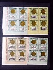 Paraguay 1964 Giovanni (4) in U / M angolo Blocchi di 4 nb166