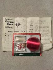 """VIntage Berman & Anderson Red Satin Ornament Kit Beads Pins MIP """"Fire And Ice"""""""