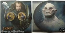 2014 THE HOBBIT THE BATTLE OF 5 ARMIES  COIN SET NEW ZEALAND!!!!