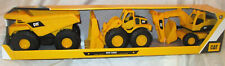 Funrise CAT Caterpillar Mini Crew Dump Truck, Wheel Loader and Excavator NEW