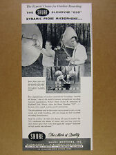 1956 Shure Slendyne 535 Microphone outdoor recording session photo vintage Ad