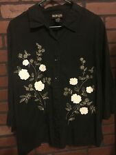 """1x 2x 20w PLUS 58"""" Bust 28"""" Length Style and Co Women's Shirt Top Blouse"""