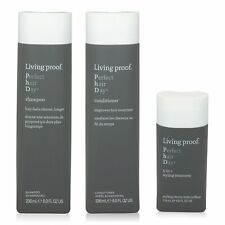 Living Proof Perfect Hair Day Shampoo, Conditioner 8 oz & 5-in-1 Treatment 4 oz