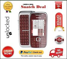 NOKIA E75 UNLOCKED MOBILE PHONE BRAND NEW SEALED - SILVER/RED