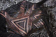 Black Crochet Knit #2 100% Polyester Soft Warm Stretch Fabric BTY