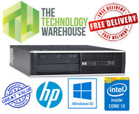 HP Compaq Pro PC - Fast Computer with Intel i3 CPU + SSD +DVDRW & Windows 10 Pro