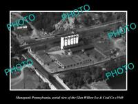 OLD LARGE HISTORIC PHOTO OF MANAYUNK PENNSYLVANIA AERIAL VIEW OF G/W Co c1940