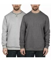 Island Sands Long Sleeve Reversible Crew-neck Sweater Grey/Charcoal, Large