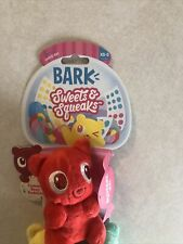 Bark Sweets & Squeaks Yummy Bear Buddies Dog Toy for Xs-S 0-20lbs. New