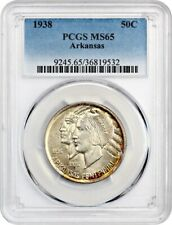 1938 Arkansas 50c PCGS MS65 - Low Mintage Issue - Silver Classic Commemorative