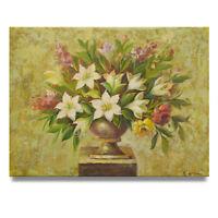 NY Art - Boutique Floral  Arrangement 12x16 Original Oil Painting on Canvas!