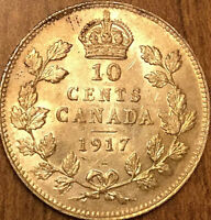 1917 CANADA SILVER 10 CENTS COIN - Uncirculated